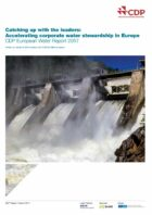 New CDP report: European companies need to do more towards corporate water stewardship