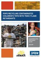 Plastic speelgoed, door recycling, vervuild met giftige stoffen uit electronisch afval