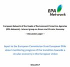 Monitoring progress of the circular economy in the EU