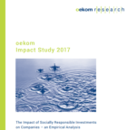 oekom Impact Study 2017: The impact of responsible investment on companies is increasing