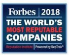 Philips, Heineken en Unilever bij de 'The World's Most Reputable Companies 2018' van Forbes