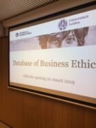 Officiële Opening Database on Business Ethics (DBBE)