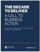Business Contribution to the 2030 Agenda for Sustainable Development Not on Track, United Nations Global Compact and Accenture Study Finds