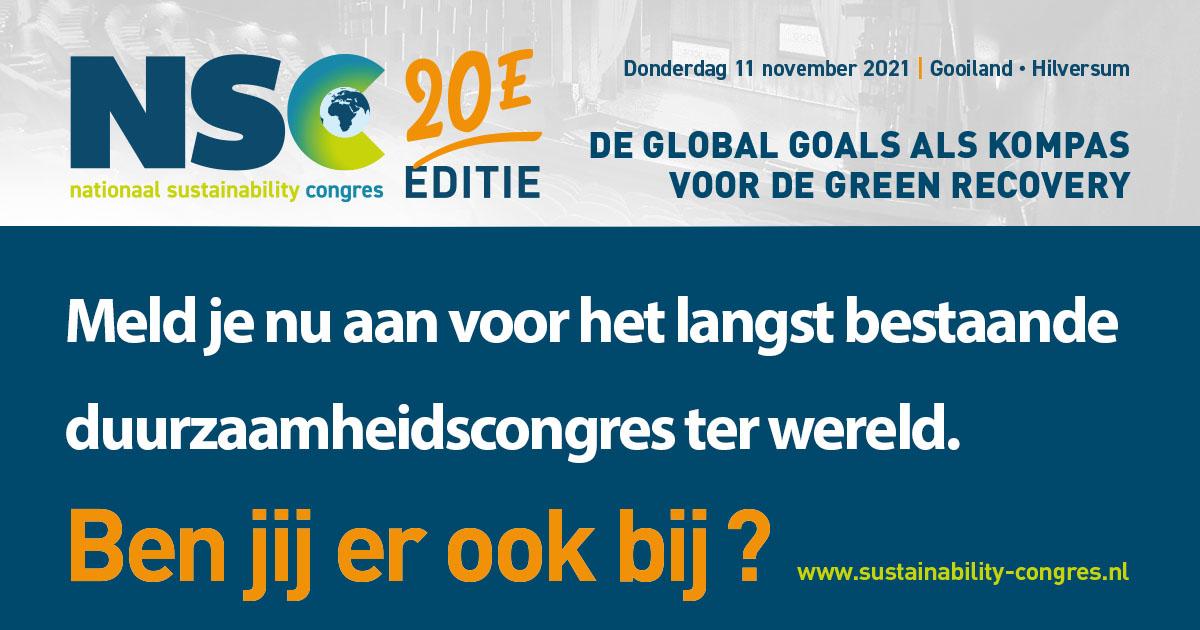 20ste jubileumeditie Nationaal Sustainability Congres