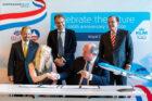 KLM en Microsoft werken samen aan duurzame luchtvaart