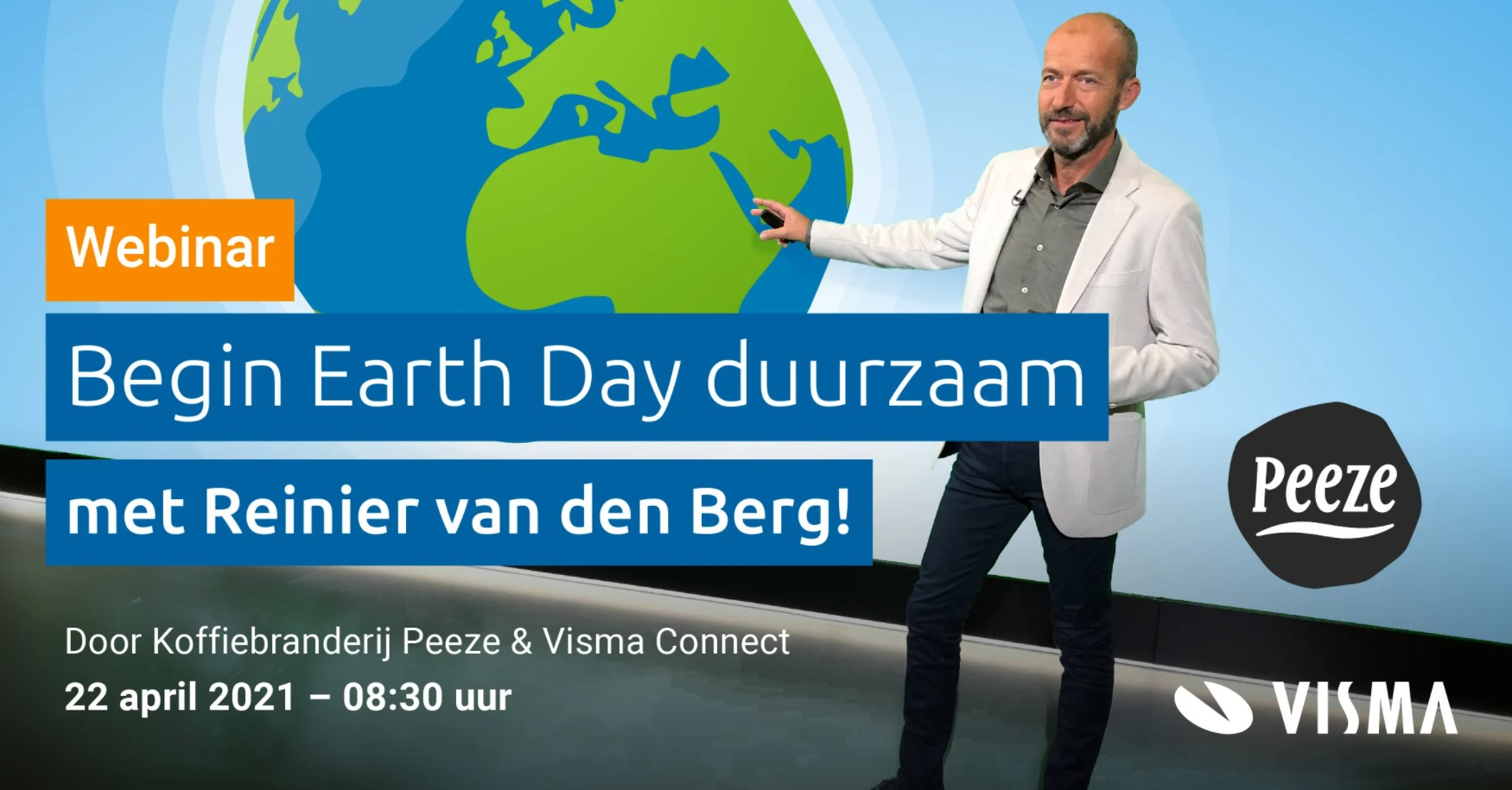 Begin Earth Day duurzaam met Reinier van den Berg!